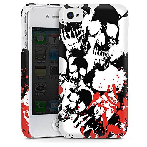 Apple iPhone 5 Housse Étui Silicone Coque Protection Crâne Sang Têtes de mort Cas Premium mat