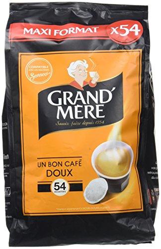 GRAND MERE Café Doux - 270 Dosettes Souples - Lot de 5 x 54 dosettes
