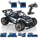 KOOWHEEL Macchina Telecomandata, 2.4Ghz Auto Radiocomandata 1:16 2WD Alta Velocita Monster Truck Telecomando con 2 Batterie Ricaricabili (1512 RC Auto)