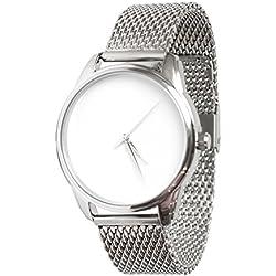 Zeigt weißer, Armband aus Metall-White & Silver