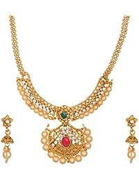 Reeti Fashions Gold Metal Chain Necklace Set For Women (RF17_10B_38)