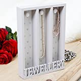 Stunning French Grey Decorative Jewellery Store! Perfect for keeping necklaces from getting tangled! Great addition to any dressing table, bedroom or dressing room! Ideal Gift 28cm X 20cm X 5cm (B578)