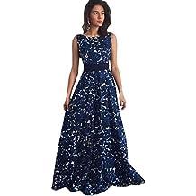 Vestido Amlaiworld Mujeres Floral largo formal vestido de fiesta vestido de noche