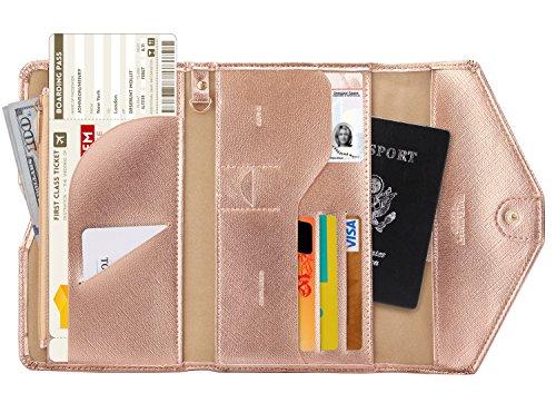 Zoppen RFID Blocker Reisepasshülle (Ver.4) Passport Hülle Halter dreifach Dokumente Organizer, #5...