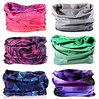 YouGa Tube Scarf - 3D Face Bandana Mask Unisex Seamless Tube Headbands Headwrap, UV Resistance Outdoors Mutifunctional Headwear Balaclava (Multicolor)