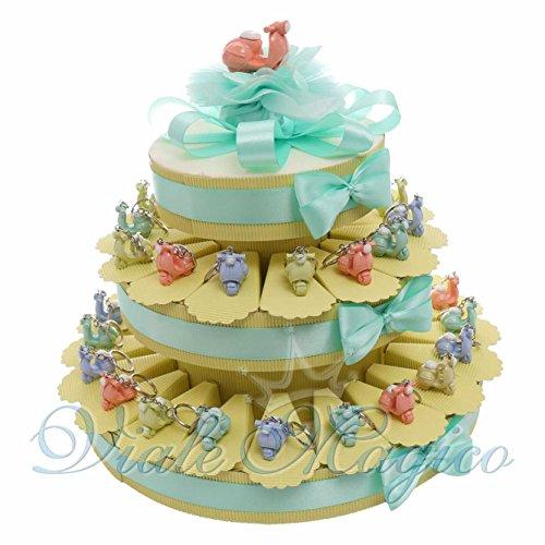 Bomboniere compleanno portachiavi torta da 35 pezzi con vespe pastello moto ragazzo ragazza prima comunione cresima