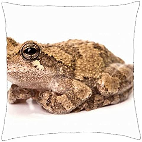 GRAY TREE FROG - Throw Pillow Cover Case (16