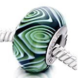 Pugster Circle Rose Murano Glass Bead Fits Pandora Charm Bracelet