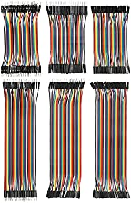 Andoer 240pcs Breadboard Jumper Wires Ribbon Cables Kit Multicolored 80 Pin M/M + 80 Pin M/F + 80 Pin F/F (10c