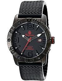 Burgmeister Armbanduhr für Herren mit Analog Anzeige, Quarz-Uhr und Silikonarmband - Wasserdichte Herrenuhr mit zeitlosem, schickem Design - klassische Uhr für Männer - BM522-622E BLACK!