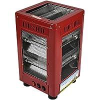 CARWORD 2000W Rojo Eléctrico Personal Ventilador Calentador De Cinco Lados Calefacción 6 Ajustes De Calor para