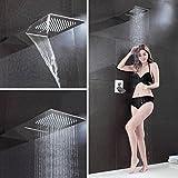 BONADE® Unterputz Duschpaneel Wasserfall Regendusche Duschkopf Kopfbrause Brausegarnitur Set
