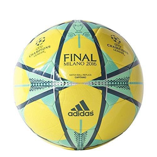 adidas Final Milano Cap - Balón para hombre, color amarillo / azul, talla 4