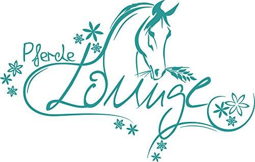 GRAZDesign 300039_30_WT054 Wandtattoo Wandaufkleber Tattoo für Mädchenzimmer Spruch Pferde -Lounge...