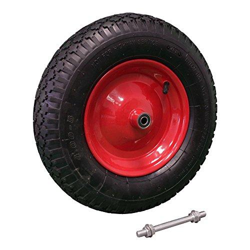 Preisvergleich Produktbild Schubkarrenrad Schubkarrenreifen Ersatztrad Rad Reifen Metallfelge Inkl. Steckachse 4.00-8S