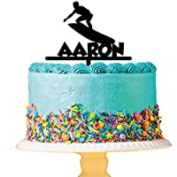 Personalised Surfing Acrylic Cake Topper