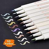 DealKits Metallic Pinselstifte Set, 10 Farben Marker Stifte, Metallischen Stift Pens für...
