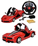 #1: Toyshine 1:16 Ferrari Remote Control Car with Opening Doors, Rechargeable, Red