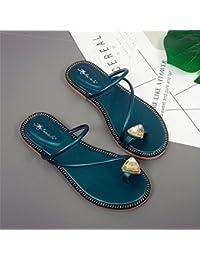 Zapatillas de Moda Sandalias   Sandalias de mujer Presidente calzado plano   Ping para sujetar los dos pies de...