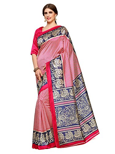 Kupinda Kalamkari Style Art Silk Saree Color : Pink (4240-TK-13-RNI-VLT)