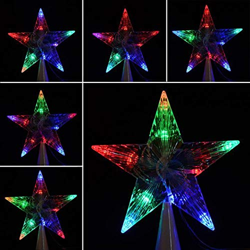 vobome LED Indoor Outdoor Christmas Tree Topper Star Lights Lamp Xmas Decoration 100-240V/EU Speziallampen