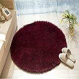 QETU Volltonfarbe Runder Teppich Computer Stuhl Teppiche Kuppel Matratze Fußmatten Shaggy Faux Pelz Area Rug für Wohnzimmer Kinderzimmer,#8,1.4mdiameter