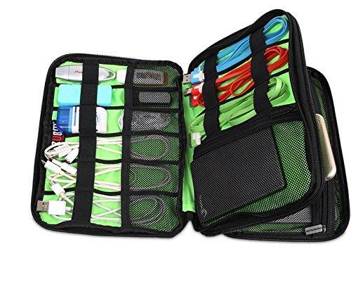 BUBM Cavo® taglia L-Borsa impermeabile per Geocaching Tools con cerniera borsa da viaggio cosmetici, Custodia, Elektronik, giochi,