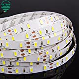 #3: amiciKart® LED Strip light 5630 DC12V 5M 300led flexible 5730 bar light high brightness indoor home decoration Warm White With Power Supply