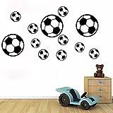 Gemini_mall® 12pcs Football Soccer PVC Wall Art Sticker Decal Kids Boys Bedroom Wall Sticker Decor