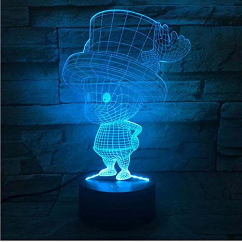 Comic 3D Blei Nachtlicht Tony Tony Chopper Lampe Schlafzimmer Dekoration Kinder Geburtstagsgeschenk Tisch Nachtlicht One Piece Anime Chopper