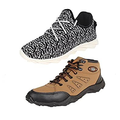Earton Men Combo Pack of 2 Sports Shoes with Casual Shoes (6 UK)