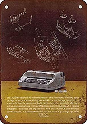 EstherMi19 1963 IBM Selectric Schreibmaschinen, lustiges Vintage-Metallschild, Heimdekoration, Blechschild, für Kinderzimmer, Männer, Höhlen, Garage, Dekoration, Geschenkidee, 20,3 x 30,5 cm -