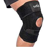 EXOUS BODYGEAR Knee Support Brace With Lateral Stabilisers Anti-Slip Design - Enhanced Comfort Helps With Patella Issues LCL/MCL Ligament Problems