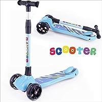 Baytter Kinderscooter Dreirad mit verstellbarem Lenker Kinderroller Roller Scooter LED Blinken für Kinder ab 3 4 5 Jahren, bis 75kg belastbar