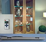 LED Glasboden Kanten Vitrinen Beleuchtung mit Funk Fernbedienung und Dimmfunktion (4er Set, 40cm)