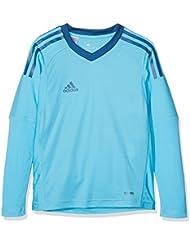 adidas Revigo 17GK Camiseta de portero, primavera, infantil, color Bright Cyan/Dark MARINE, tamaño 8 años (128 cm)