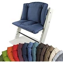 BambiniWelt Cojín de asiento para trona Stokke Tripp trapp * 14colores, jaspeado * 2piezas de asiento, funda para cojín