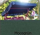 Sonnendach, Schaukeldach, Ersatzdach Hollywoodschaukel, nach Maß passt überall verschiedene Farben (mit umnähten Kanten) (moosgrün)