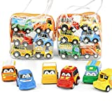 minlop 6pc Toy Cars Set for Kids, Pull Back Cars Push and GO Cars Toys For Toddlers 1 Year And Up Baby Construction Team Vehicles Set Toy (Random Style)