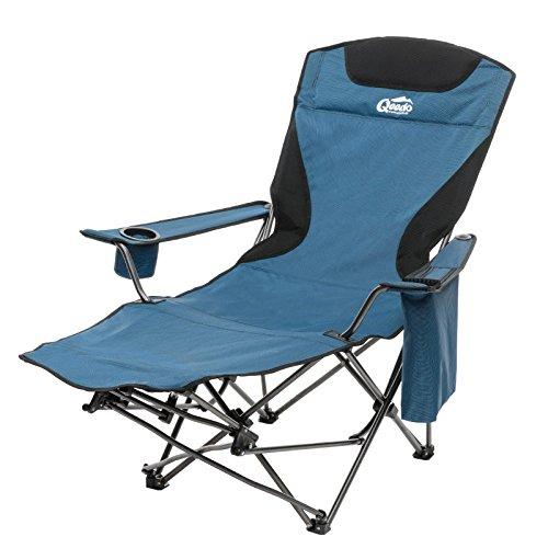 Klappstuhl camping  Camping-Stuhl Qeedo Johnny Relax bis 105 kg, Klappstuhl, Fußablage ...