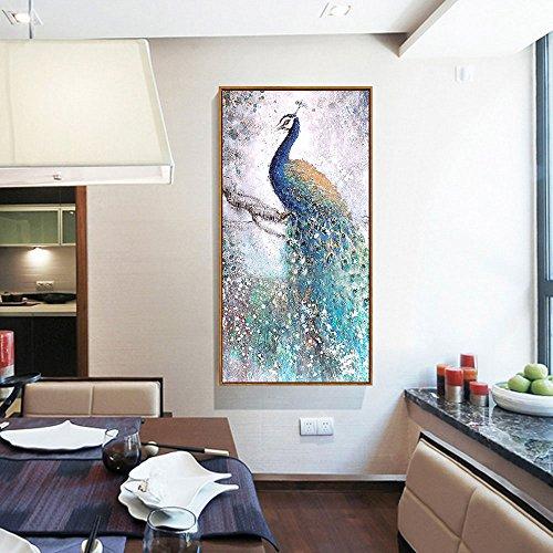 ... LA VIE Wandbild Gemälde Hochwertiger Leinwand Bilder Eleganter Pfau  Poster Drucken Moderne Kunstdruck Für Zuhause Wohnzimmer ...