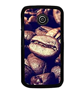 Hi-Me Designer Phone Back Case Cover Motorola Moto E :: Motorola Moto E XT1021 :: Motorola Moto E Dual SIM :: Motorola Moto E Dual SIM XT1022 :: Motorola Moto E Dual TV XT1025 ( Love Coffee Brown Beans )