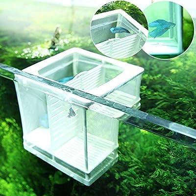 UEETEK Fish Brüter Net Brut Brutschrank Inkubator mit Saugnapf für Aquarium (zufällige Farbe)
