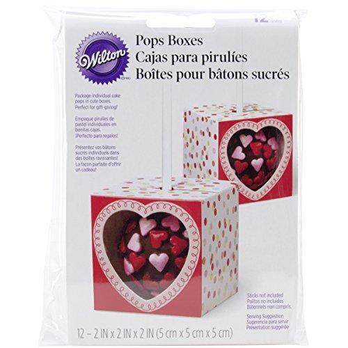 Wilton Single Pop Geschenk-Box, 12Pack–Rot