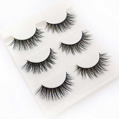 ssional Echthaarwimpern Reine Hand Schwarz Wimpern Lang und Dick False Eyelashes (H01) (Puppe Wie Make-up Halloween)