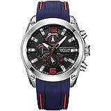 Megir Wrist Watch for Men, Silicone, MN2063GBE-1