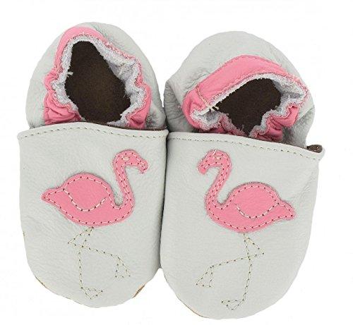 Krabbelschuhe Flamingo von baBice