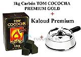 [Pack] 1kg Kohle für Shisha Tom Cococha Premium Gold, Kaloud Premium