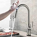 Touch Kitchen Faucets with Pull Down Sprayer - Kitchen Sink Faucet with Pull