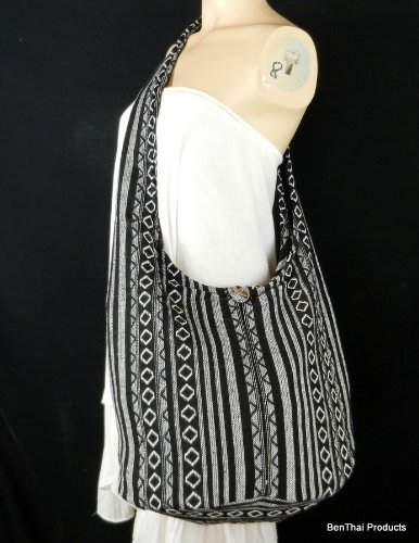 BenThai Products, Borsa a tracolla donna Multicolore A61 large Black A57